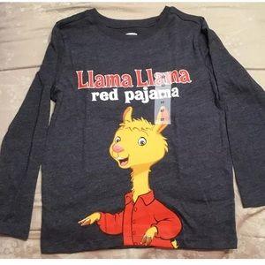 Llama llama 🦙 red pajamas old navy shirt